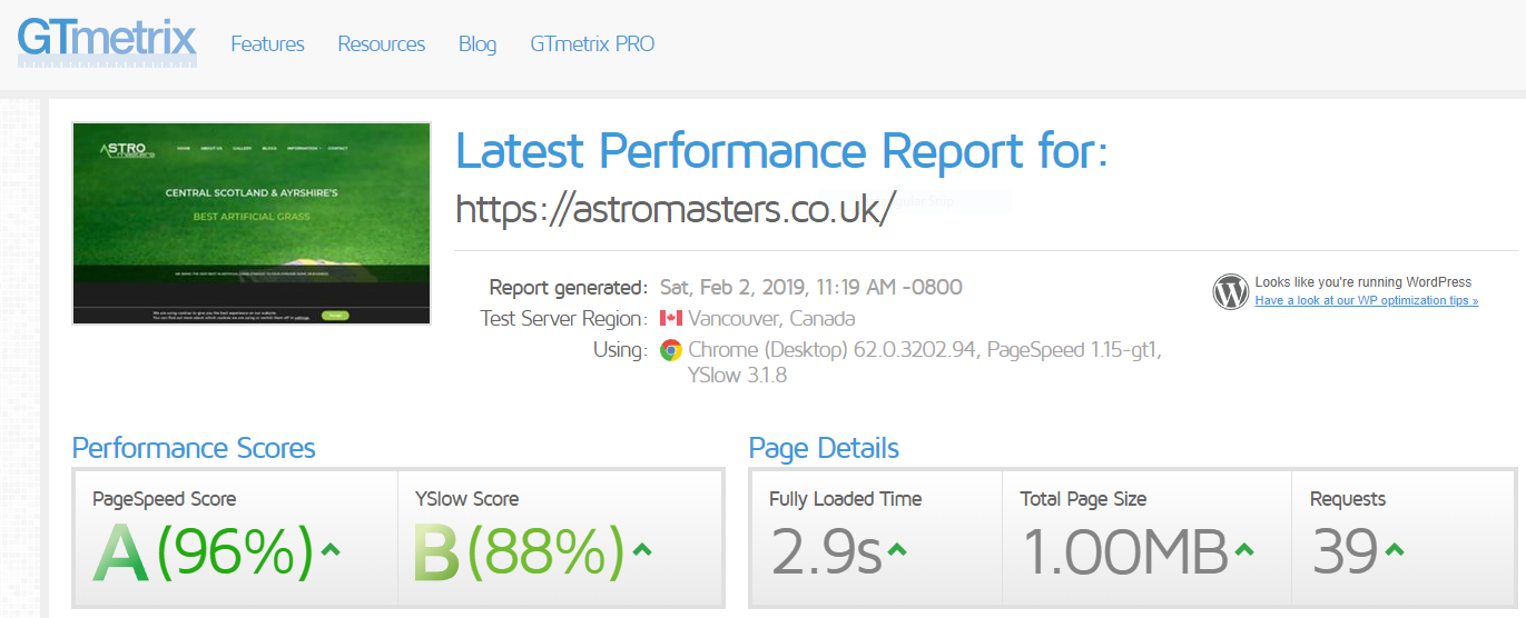 Astromasters website optimisation
