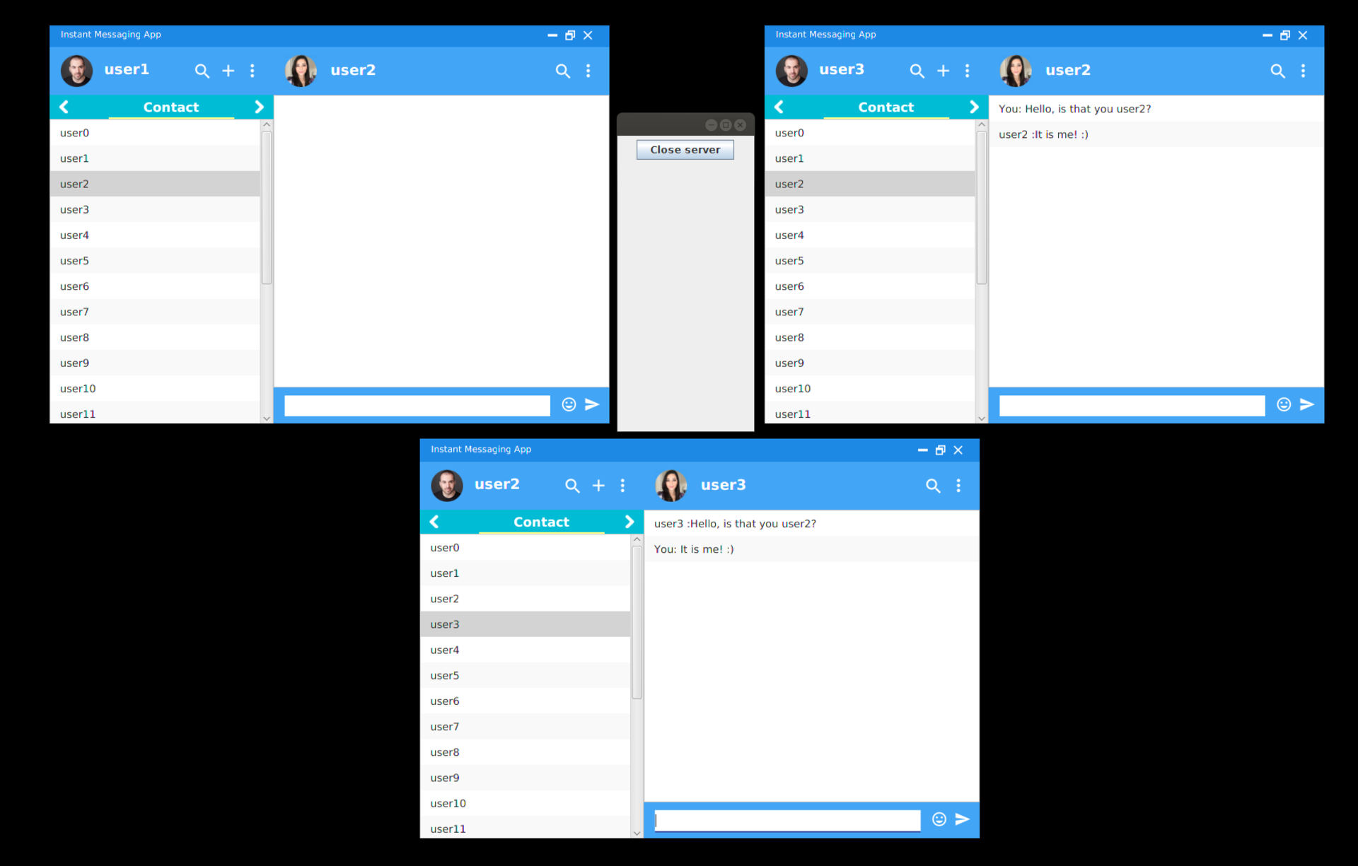 Instant Messenger Chat Windows